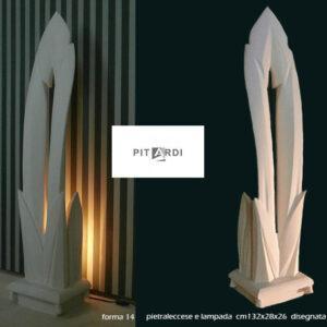 forma 14 Lampada in pietra leccese Lecce Melpignao Salento Puglia Italia