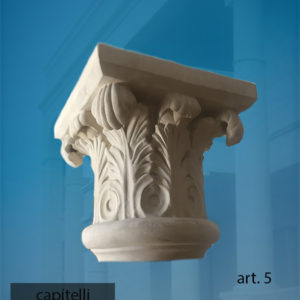 capitello 5 in pietra leccese Pitardi Melpignano Lecce Salento Puglia Italia