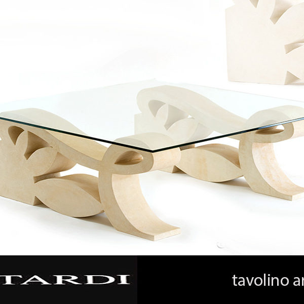 Tavoli In Pietra E Cristallo.Tavolo 1 Pietra Leccese E Piano Cristallo Pitardi Cavamonti